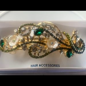 Brand new beautiful designers crystal hair clip